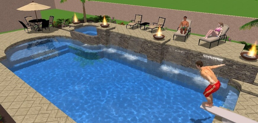Custom Pool Design Graphic