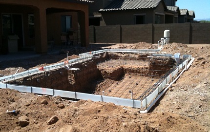 Pool Construction Before