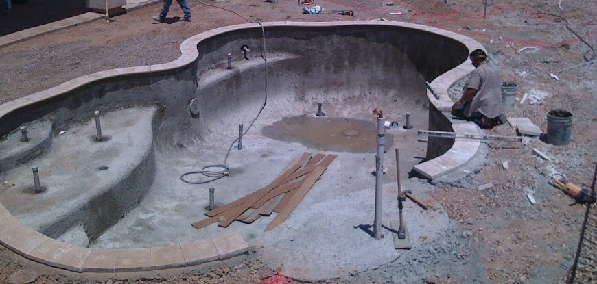 Pool Construction During
