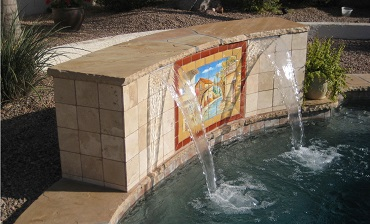 Water features on pools